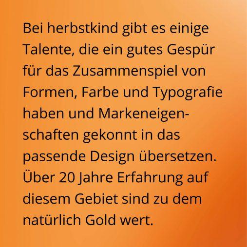 Talente mit Gespür für das Zusammenspiel von Formen, Farbe und Typografie mit 20 Jahren Erfahrung.